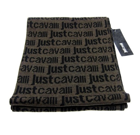 JUST CAVALLI  Herren Men Luxuriöse Schal Scarf Winter Braun Brown JC