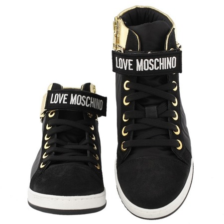 LOVE MOSCHINO JA15033G90IM190A Damen Women Schuhe Shoes High Top Sneaker Schwarz