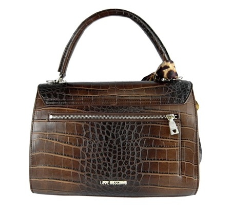 LOVE MOSCHINO JC4269PP9JKK0200 Damen Women Tasche Bag Purse Braun Brown Kroko