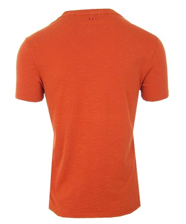 NAPAPIJRI Serin Herren Men T-Shirt  V-Neck Orange Rusty