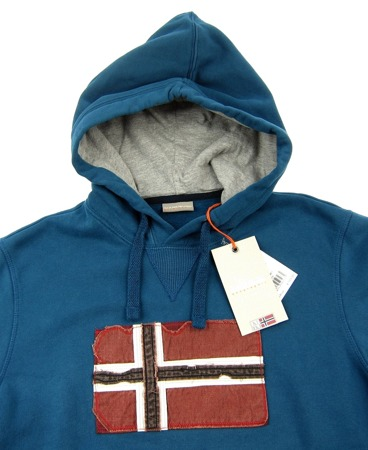 NAPAPIJRI Smu Bricket Herren Men Kapuzenpullover Hoodie Power Blautöne Warm