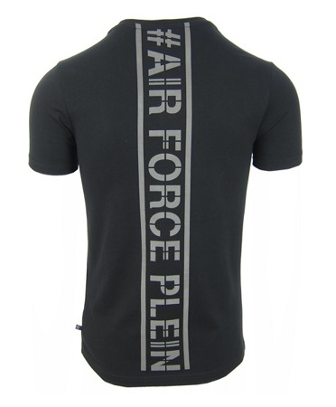 "PHILIPP PLEIN ""Clever Rock"" Herren Men Luxury T-Shirt Schwarz # Air Force Plein"