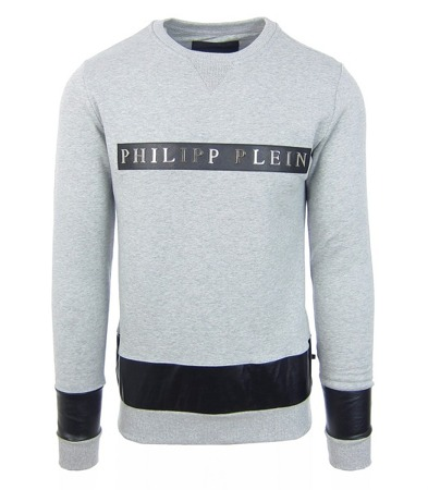 "PHILIPP PLEIN ""Drago"" Herren Men Luxury Sweatshirt Pullover Grau Grey FW16/2017"