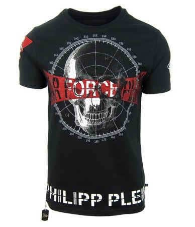 "PHILIPP PLEIN ""Squeeze it"" Herren Men Luxury T-Shirt Air Force Plein Schwarz  M"