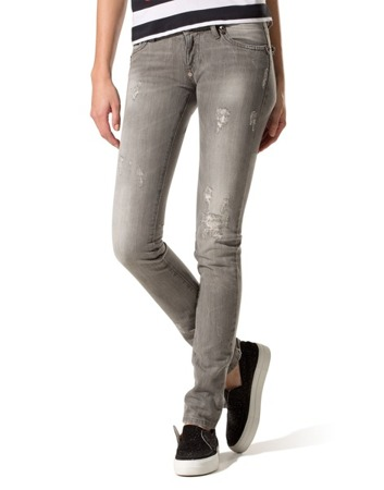 "PHILIPP PLEIN ""Super Sexy Slim Diana"" Damen Women Luxury Jeans Hose Grau Grey"