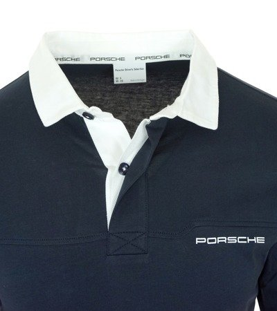 PORSCHE Driver's Selection Herren Men Polo Langarmshirt Longsleeve Sweat Navy