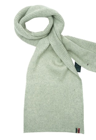 TOMMY HILFIGER DENIM Isaac Herren Men Winter Schal Strickschal Scarf Grau Grey