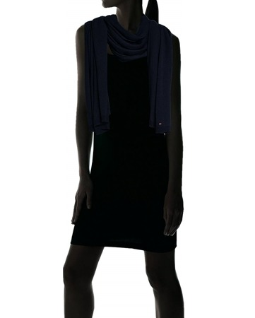 TOMMY HILFIGER Fabia Midnight Scarf Damen Women Winter Schal Dunkelblau Navy