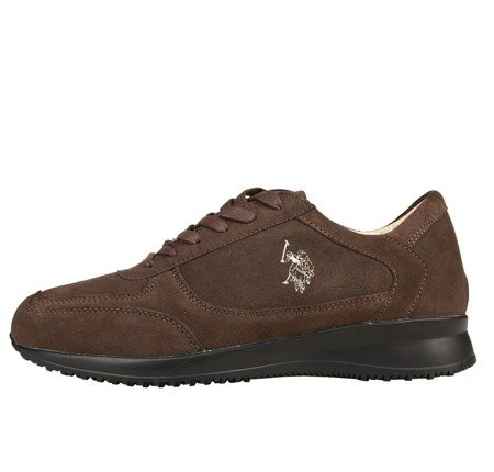 U.S. POLO ASSN. Herren Men Schuhe Shoes Sneaker Veloursleder Braun